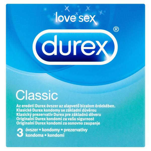Durex Classic prezervatívy 3 ks 1