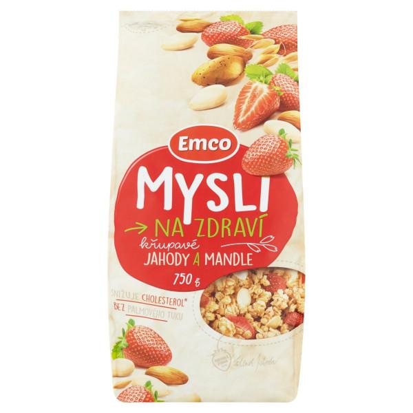 Musli Emco chrumkavé jahody a mandle 750g 1