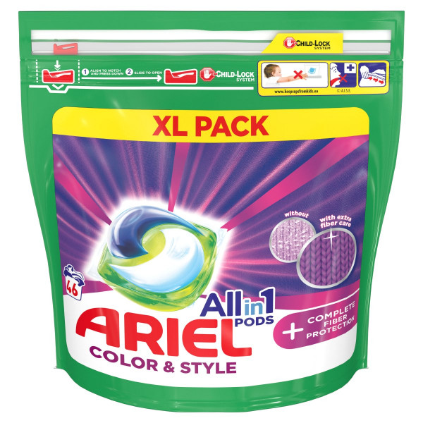 Ariel All In 1 Color & Style kapsule 46PD 1