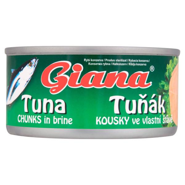 Tuniak vo vlastnej šťave GIANA 185g 1