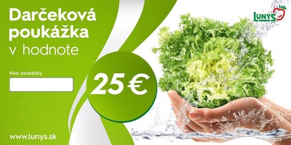 Darčekový poukaz 25 EUR eshop 1