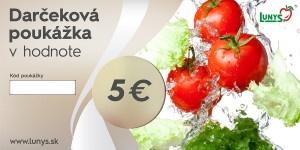 Darčekový poukaz 5 EUR eshop 5