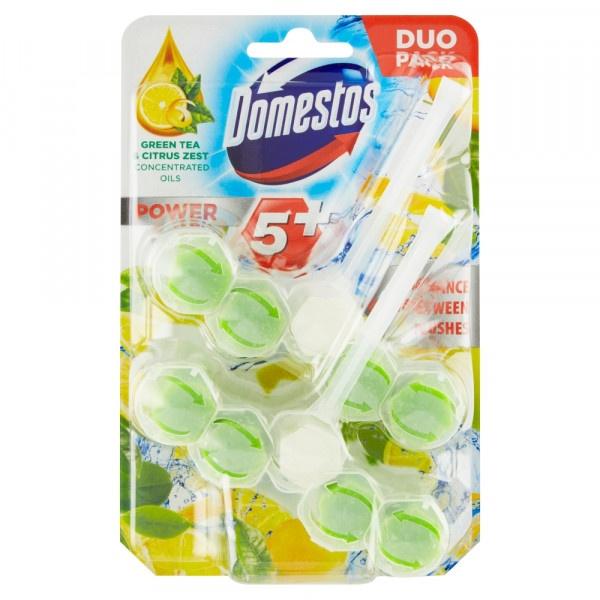 Domestos Power 5+ Green Tea & Citrus WC blok 2x55g 1