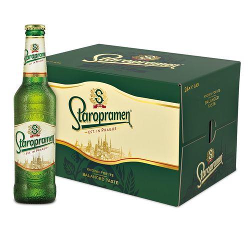 Pivo Staropramen Premium 12% 0,33l sklo 24ks 1