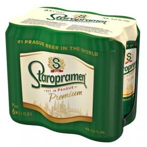 Pivo Staropramen Premium 12% 0,5l plech 6ks bal. 11