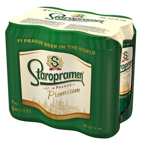 Pivo Staropramen Premium 12% 0,5l plech 6ks bal. 1