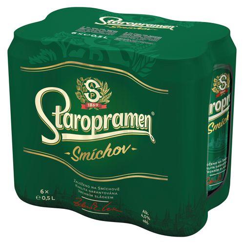 Pivo Staropramen Smíchov 10% 0,5l plech 6ks bal. 1