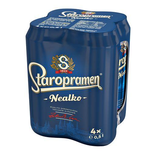 Pivo Staropramen nealko 0,5l plech 4ks balenie 1
