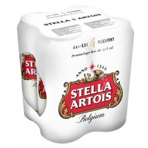 Pivo Stella Artois 12% 0,5l plech 4ks bal. 12