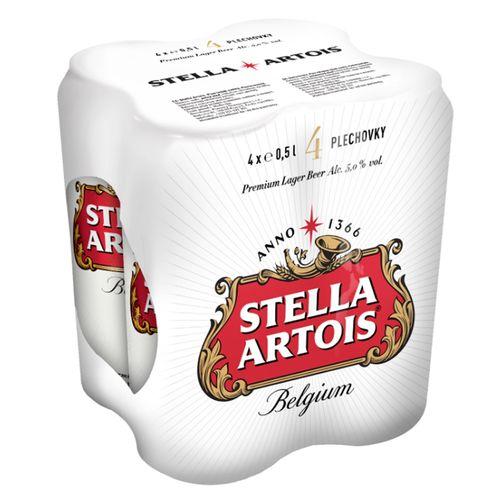 Pivo Stella Artois 12% 0,5l plech 4ks bal. 1