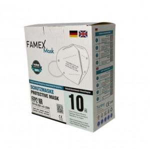 Respirátor biely FFP2NR FAMEX FAGO101 balenie 10ks 8