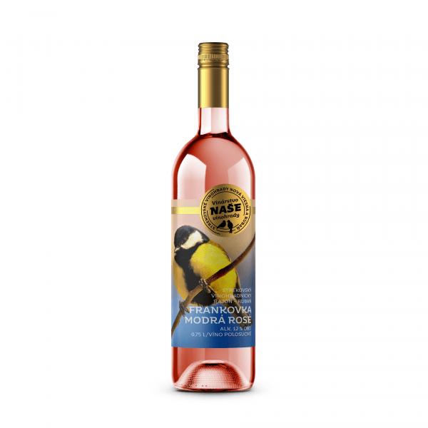 Víno r. Frank. modrá Rosé, Naše vinohrady 0,75l SK 1