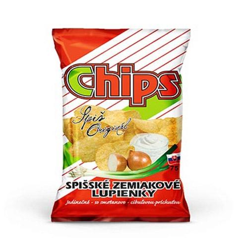 Spišské zemiakové lupienky smot.+cib. 75G VÝPREDAJ 1