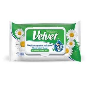Velvet, toaletný papier vlhčený Camomile 42 ks 7