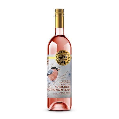 Víno r. Cabernet polosuché,Naše vinohrady 0,75l SK 1