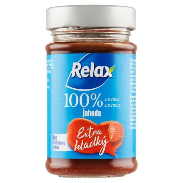 Relax Extra hladký 100%, ov.nátierka Jahoda 220g 1