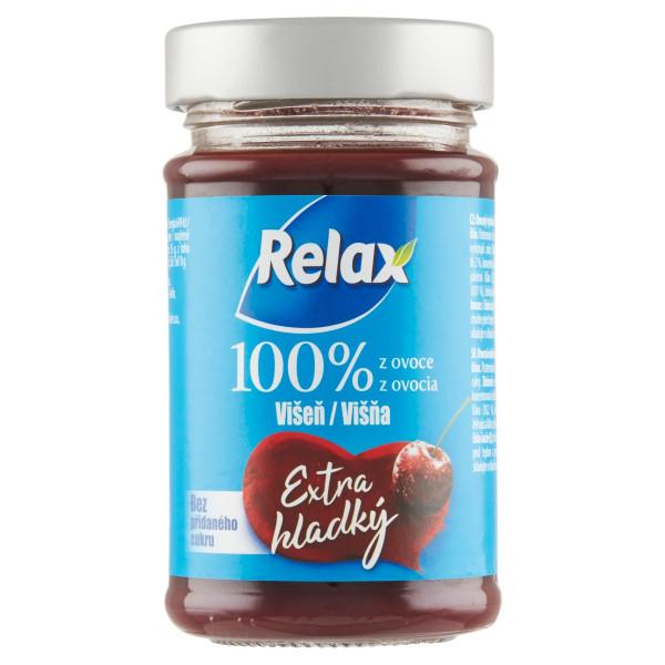 Relax Extra hladký 100%, ov.nátierka Višňa 220g 1