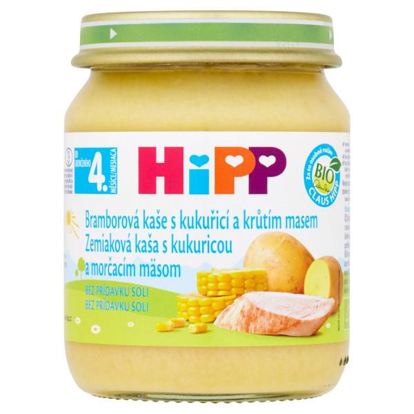 HiPP BIO Zemiak.pyré s kuku. a morč. mäsom, 125g 1
