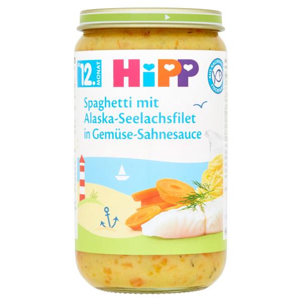 HiPP Špagety rybou a zeleninou v smot.omáčke, 250g 1