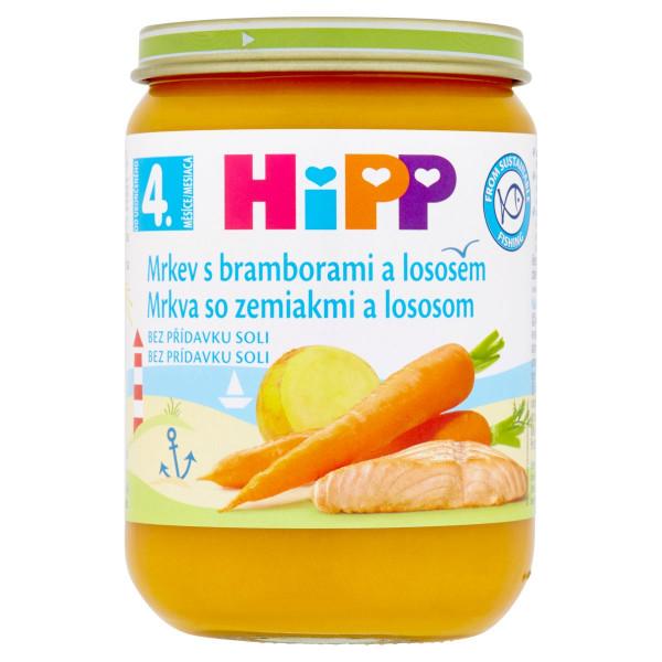 HiPP Mrkva so zemiakmi a lososom, 190g 1
