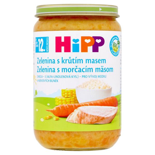 HiPP BIO Zelenina s morčacím mäsom, 220g 1