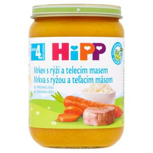 HiPP BIO Mrkva s ryžou a teľacím mäsom, 190g 23