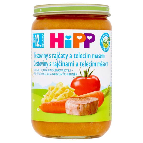 HiPP BIO Cestoviny s rajčinami a teľac. mäsom 220g 1