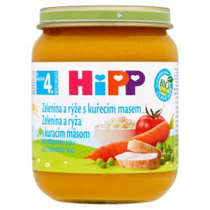 HiPP BIO Zelenina a ryža s kuracím mäsom, 125g 2