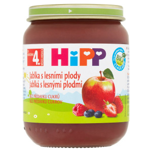 HiPP BIO Jablká s lesnými plodmi, 125g 3