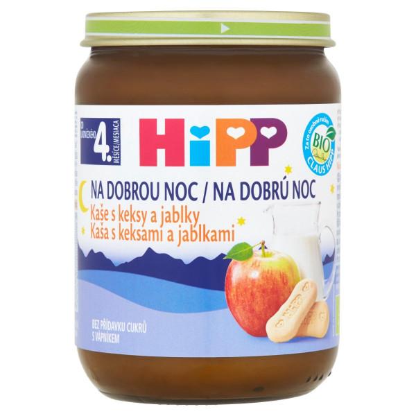 HiPP BIO Kaša na dobrú noc Keksy a jablko, 190g 1