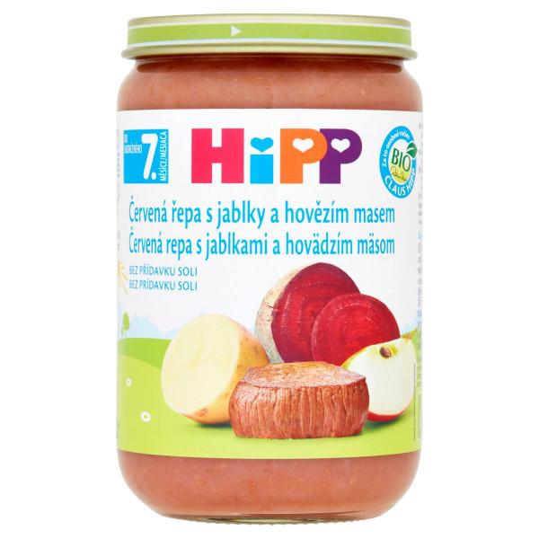 HiPP BIO Červená repa s jab.,hovädzím mäsom, 220g 1