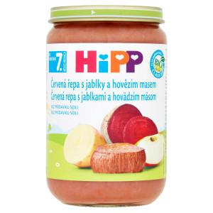 HiPP BIO Červená repa s jab.,hovädzím mäsom, 220g 2