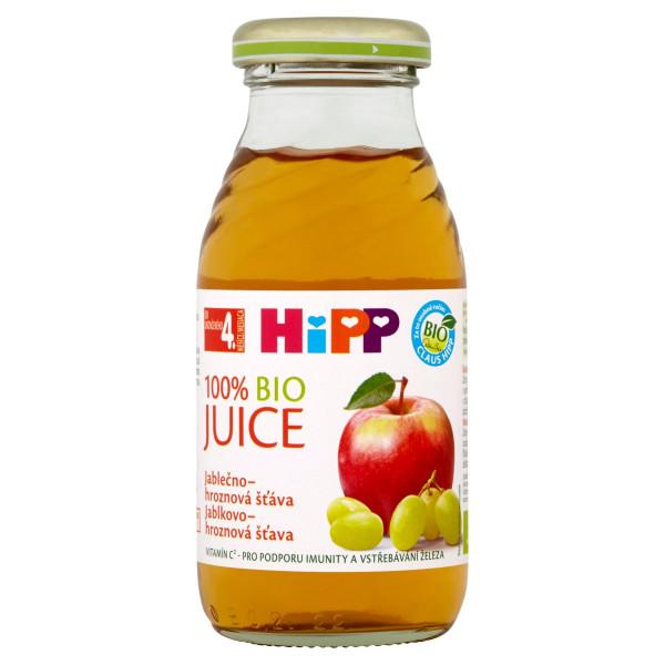 HiPP BIO Jablkovo-hroznová šťava, 200ml 1
