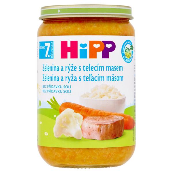 HiPP BIO Zelenina a ryža s teľacím mäsom, 220g 1