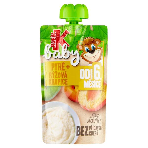 Kubík Baby kapsička jablko,marhuľa,ryž.krup. 100g 1