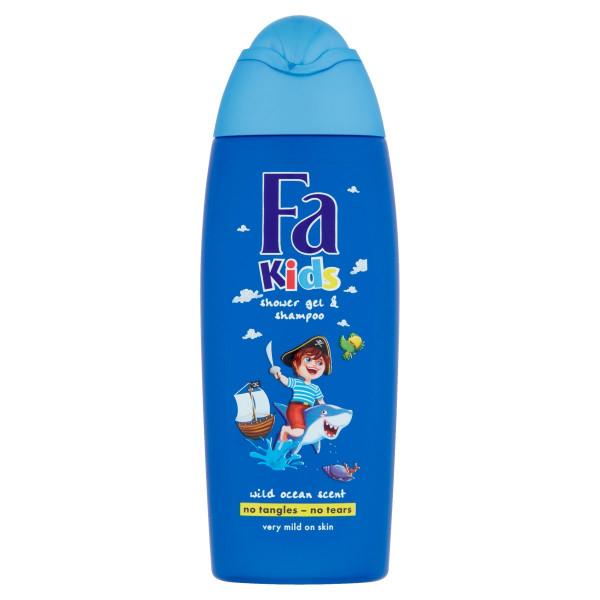 Fa Kids sprchovací gél a šampón Wild Ocean 250 ml 1