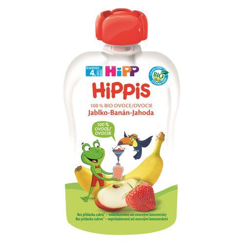 HiPP BIO 100% ovocie Jablko-Banán-Jahoda, 100g 1