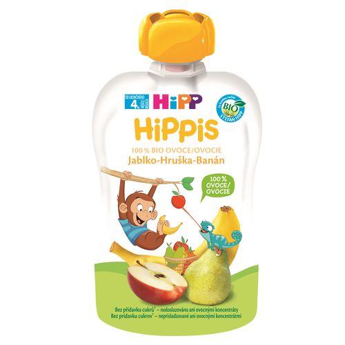 HiPP BIO 100% ovocie Jablko-Hruška-Banán, 100g 1