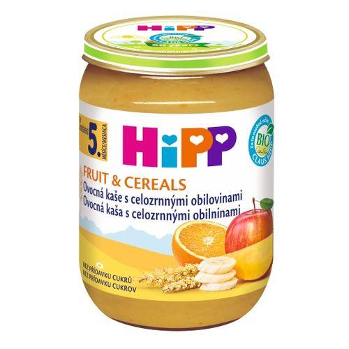 HiPP BIO Ovocná kaša s celozrn. obilninami, 190g 1