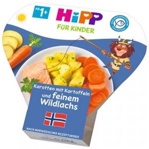 HiPP Zemiaky so zeleninou a jemným lososom, 250g 17