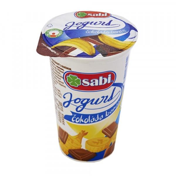 Jogurt čokoláda - banán SABI 250g 1