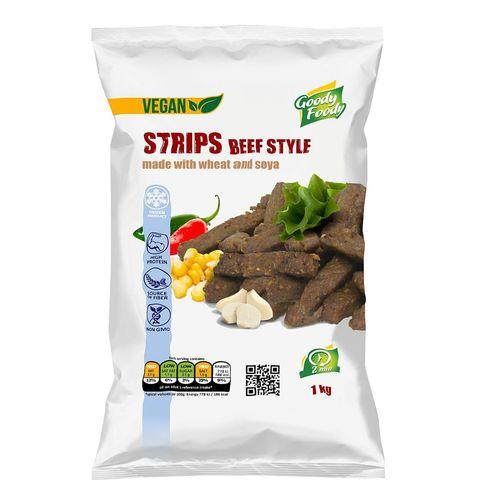 Mr. Vegánske Strips beef style 1kg, Goody Foody 1