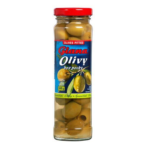 Olivy zelené celé bez kôstky, GIANA 140g 1