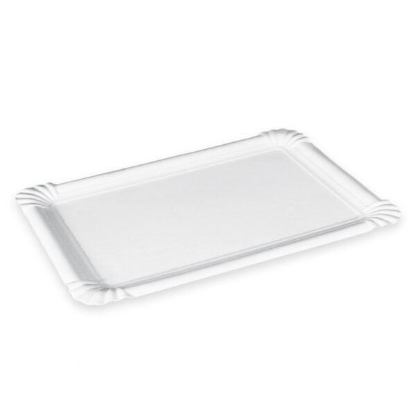Tácky papierové 130x200 mm biele, 25ks 1