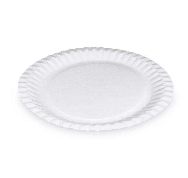 Taniere papierové plytké 23 cm biele, 15ks 1