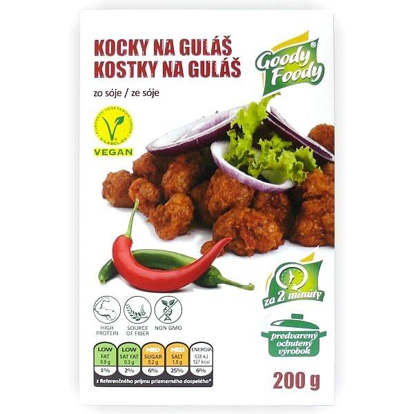 Vegánske Kocky na guláš 200g, Goody Foody 1