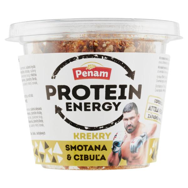 Krekry Protein Energy Smotana - cibuľa PENAM 60 g 1