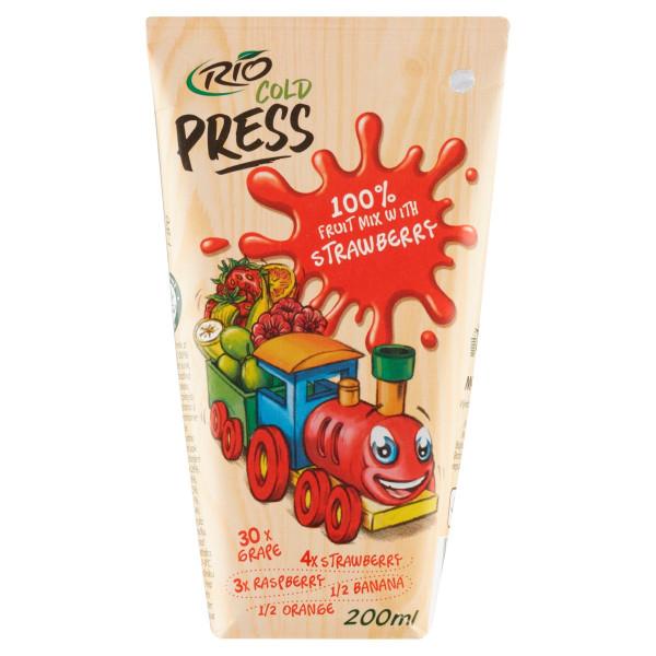 Rio Cold Press 100% Ovocný mix s jahodami 200ml 1
