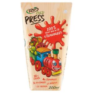 Rio Cold Press 100% Ovocný mix s jahodami 200ml 3