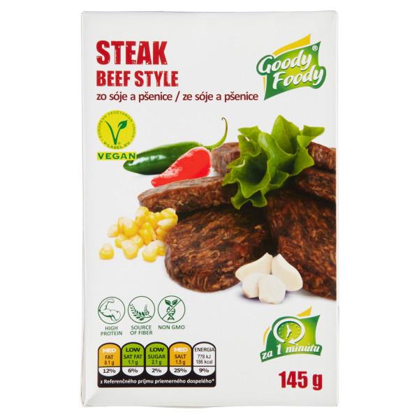 Vegánsky Steak beef style 145g, Goody Foody 1